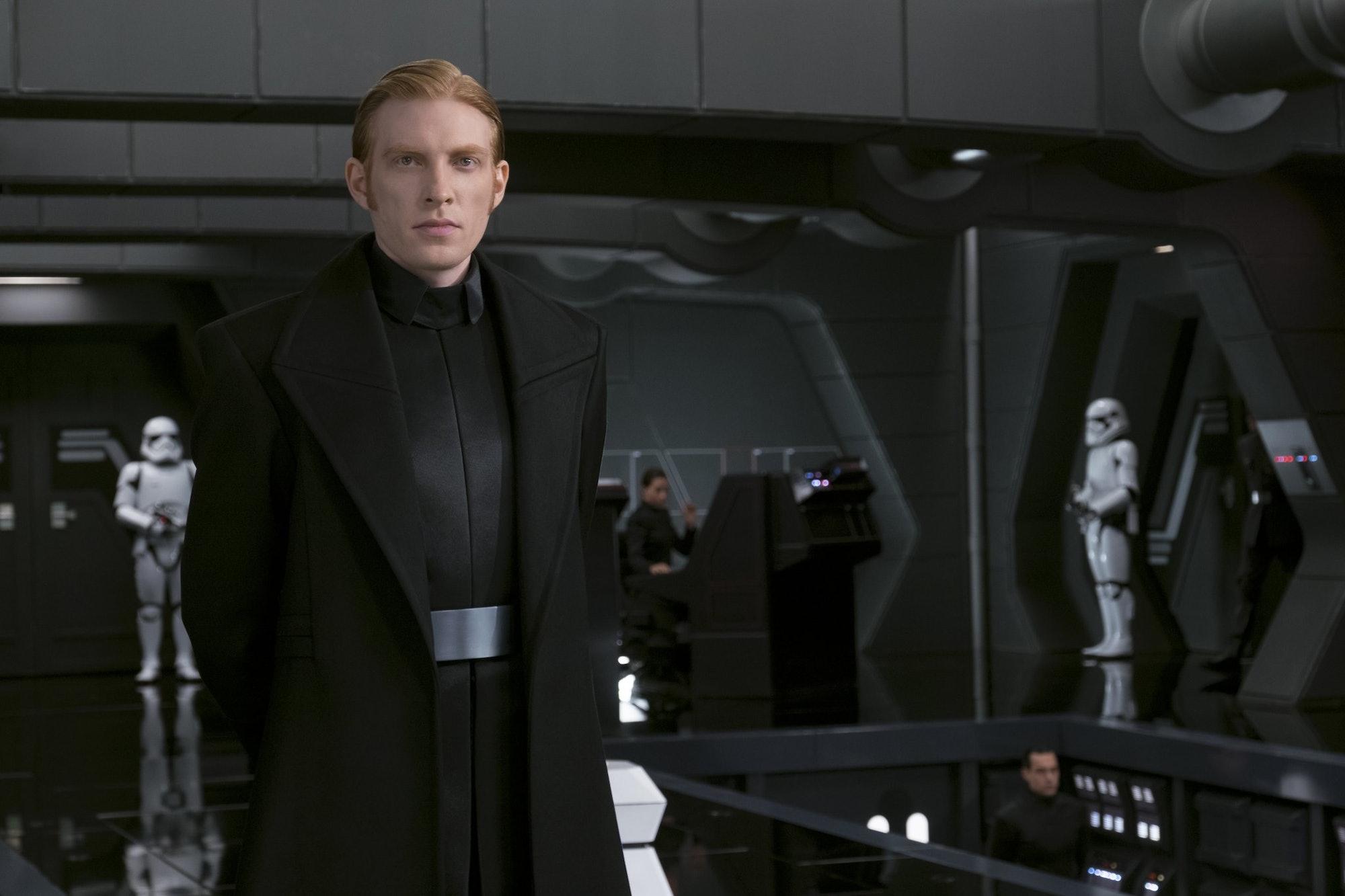General Armitage Hux in 'The Last Jedi'.