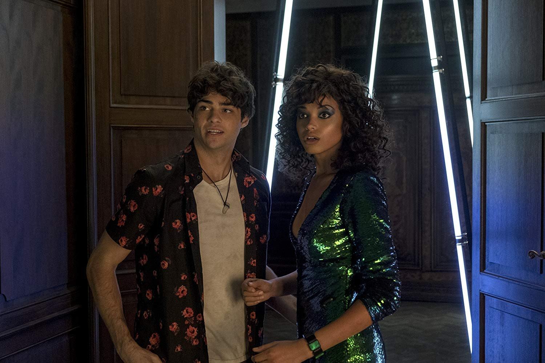 Noah Centineo and Ella Balinska in Charlie's Angels