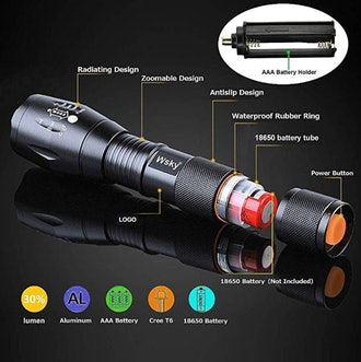 Wsky LED Waterproof Flashlight