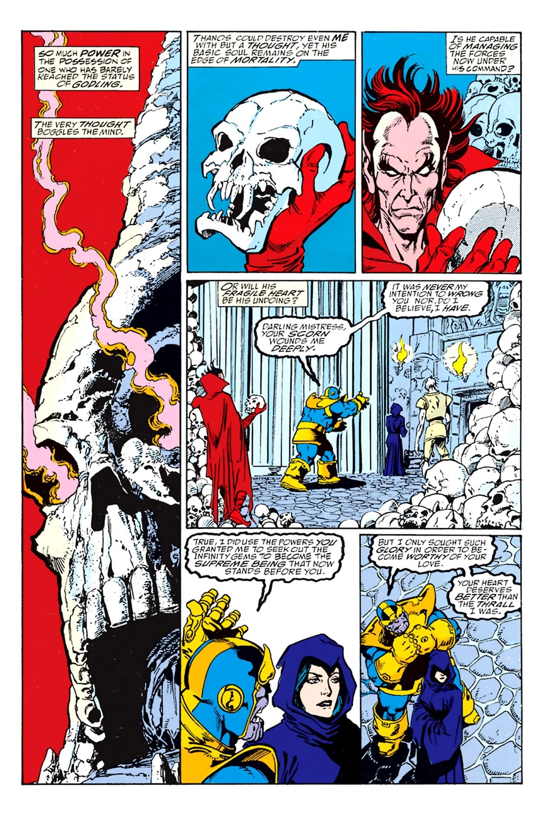 In the comics, Thanos tried to woo Death.