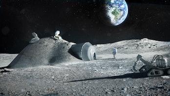 lunar habitat rendering