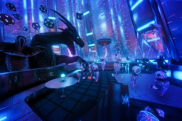 TheWaveVR's digital nightclub used the actual visual assets from the 'Ready Player One' movie to rebuild the scene.