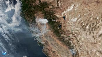 satellite image smoke