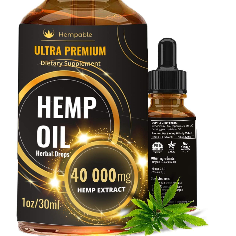 Hemp Oil Drops 40 000 mg