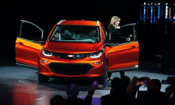 Chevrolet Bolt on stage.