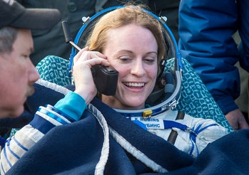 Kate Rubins is all smiles after returning from a 115 day mission aboard the ISS.