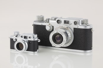 LEI0440 190 Leica IIIf chrom - Sn. 580566 1951-52-M39 vs. Minox Leica IIIf Ohne Blitz Version 2-6124 hf