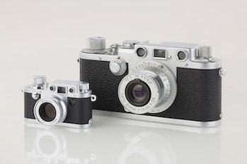 LEI0440 190 Leica IIIf chrom - Sn. 580566 1951-52-M39 vs. Minox Leica IIIf Ohne Blitz Version 2-6124...
