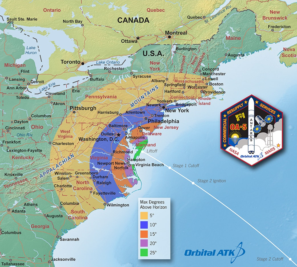 If the skies are clear, the launch will be visible for much of the east coast.