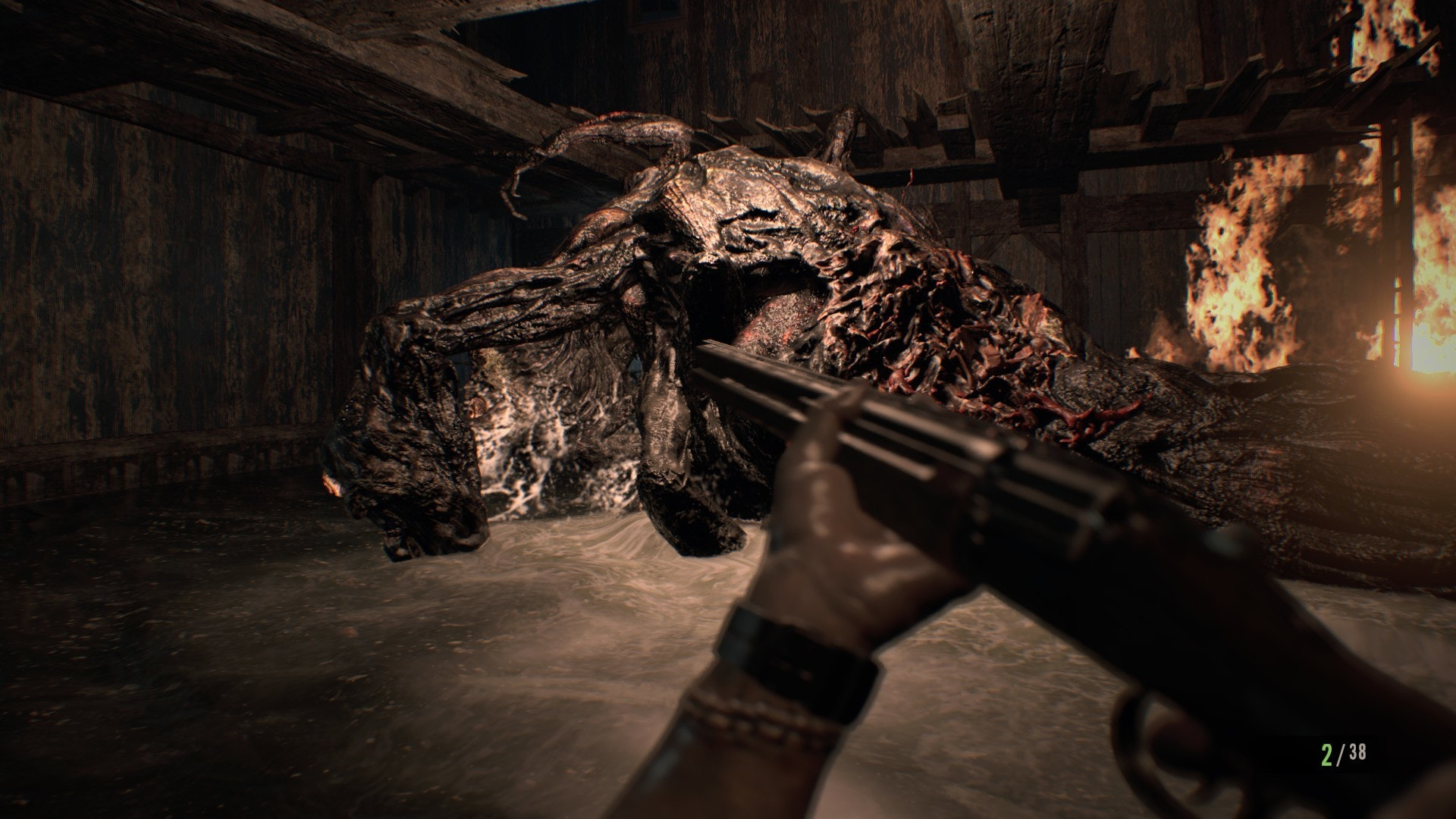 resident evil 7 jack fight chainsaw