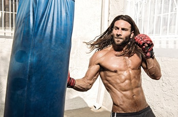 Zach McGowan in a Muscle and Fitness photo shoot