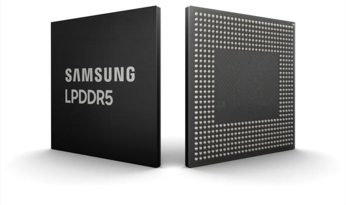 Samsung's LPDDR5 product shot