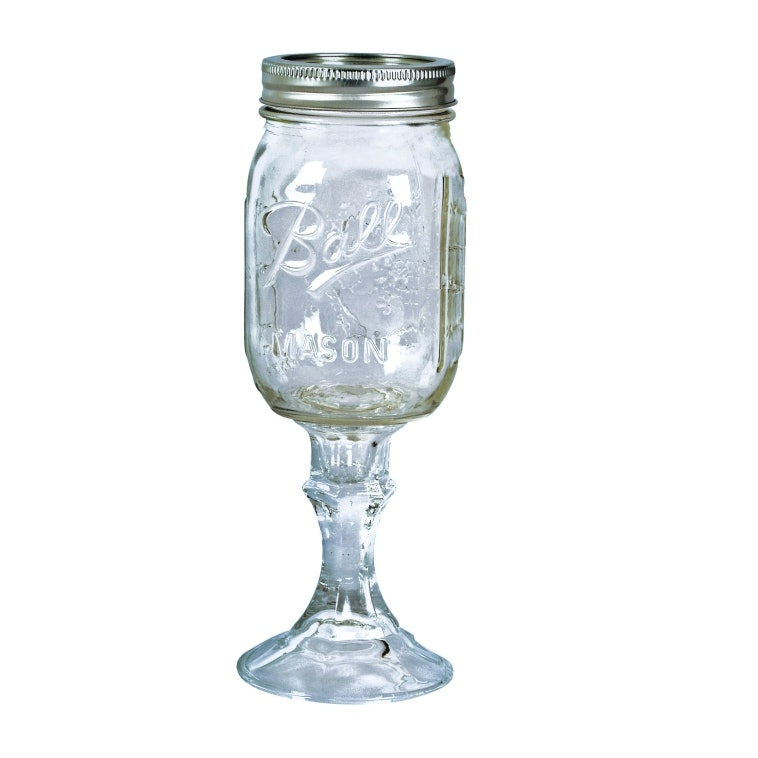 mason jar wine stem