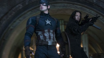 Chris Evans and Sebastian Stan in 'Captain America: Civil War'