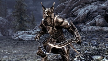 "The ""Deranged Khajiit"" I fought might look just like this one from 'Skyrim'."