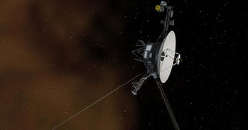 Voyager 2 continues to return data from five instruments as it travels through interstellar space