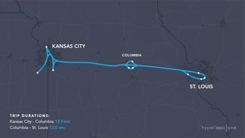 The Missouri route.