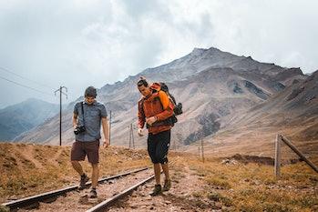 friends hike nature