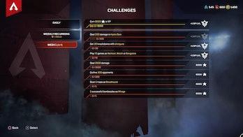 apex legends season 2 week 1 challenges