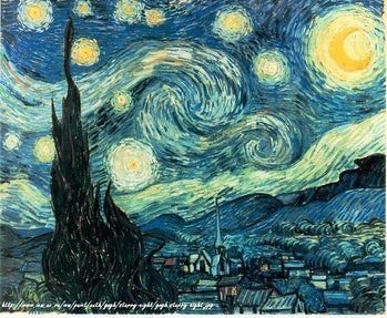 Starry Night von/from van Gogh
