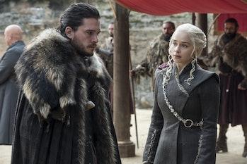 Kit Harington and Emilia Clarke as Jon and Daenerys in 'Game of Thrones' Season 7