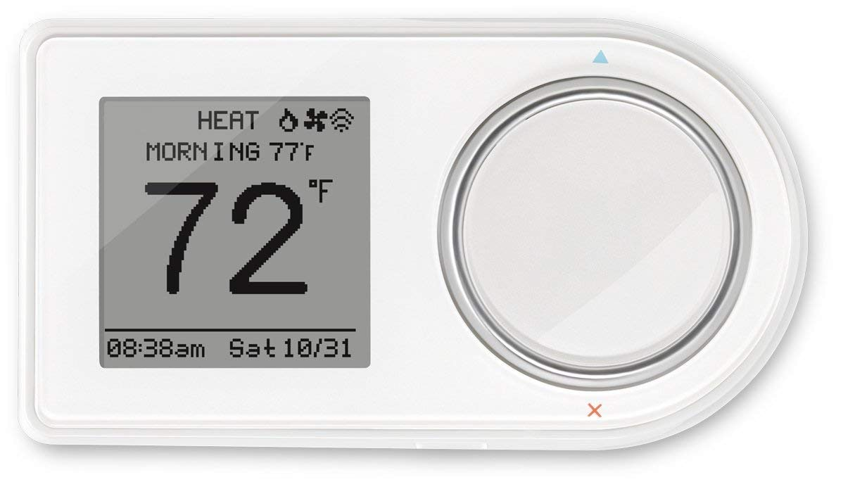 Lux Products GEO-WH 7-Day Programmable Wi-Fi Thermostat, Works with Alexa, Geofencing Capable, White