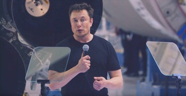 Elon Musk, speaking at a September 2018 event where he detailed plans to fly Japanese billionaire Yusaku Maezawa around the moon, along with six to eight artists.