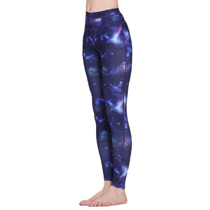 Women's Galaxy Prints High Waist Polyester Yoga Capris Leggings
