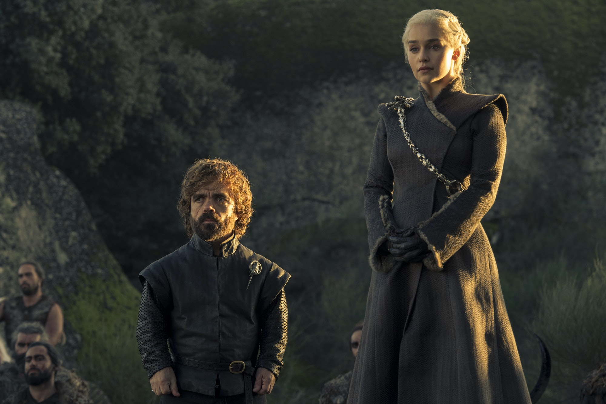 Tyrion (Peter Dinklage) and Daenerys (Emilia Clarke) on 'Game of Thrones)