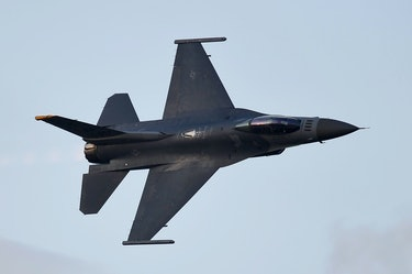A U.S. Air Force  F-16 fighter jet.