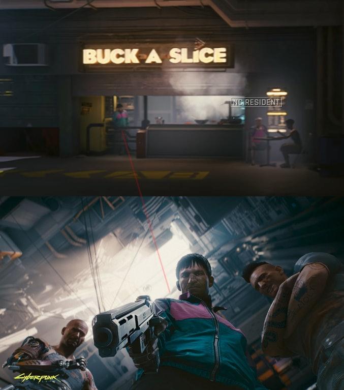 'Cyberpunk 2077' Demo Pizza Guy