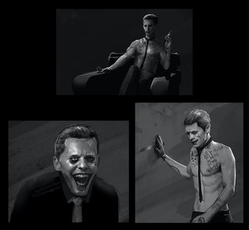 concept art for Joker in 'Suicide Squad'