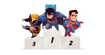 Batman, Superman, and Wolverine are the three most common superheroes from film and TV.