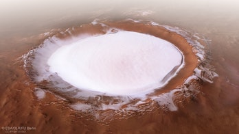 The Korolev crater.