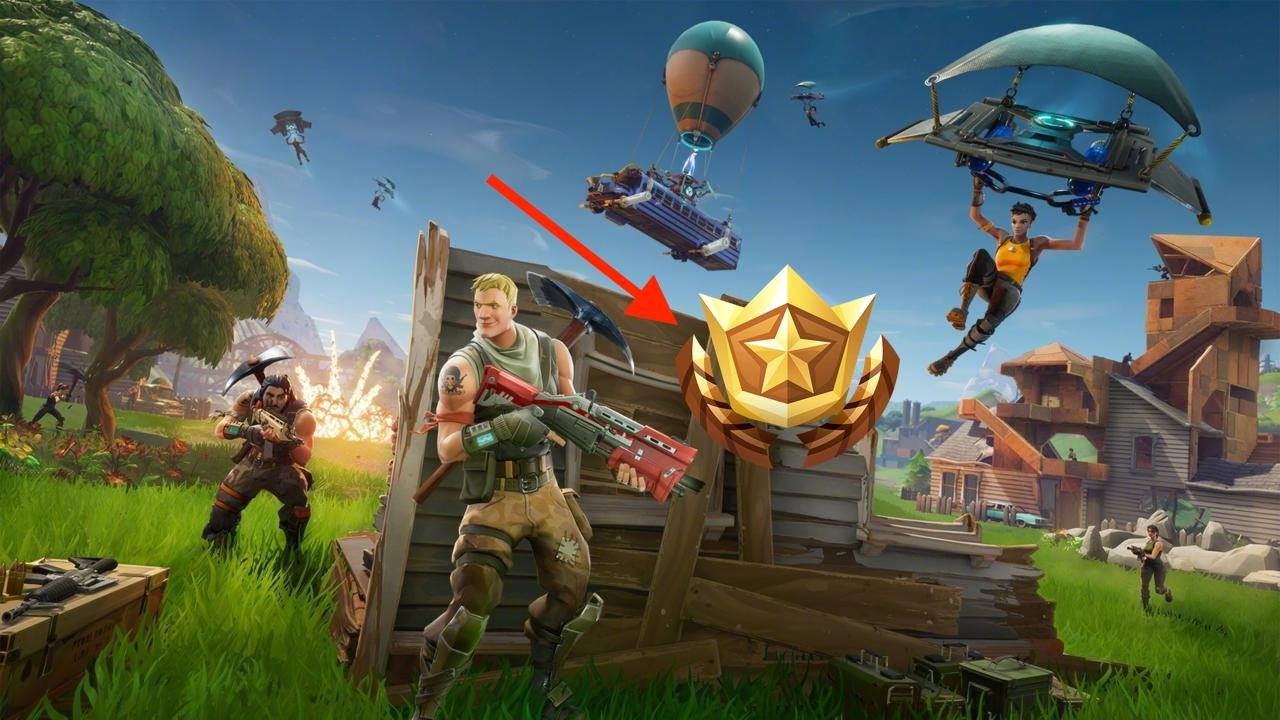 That's the symbol for the Premium Battle Pass in 'Fortnite: Battle Royale'.