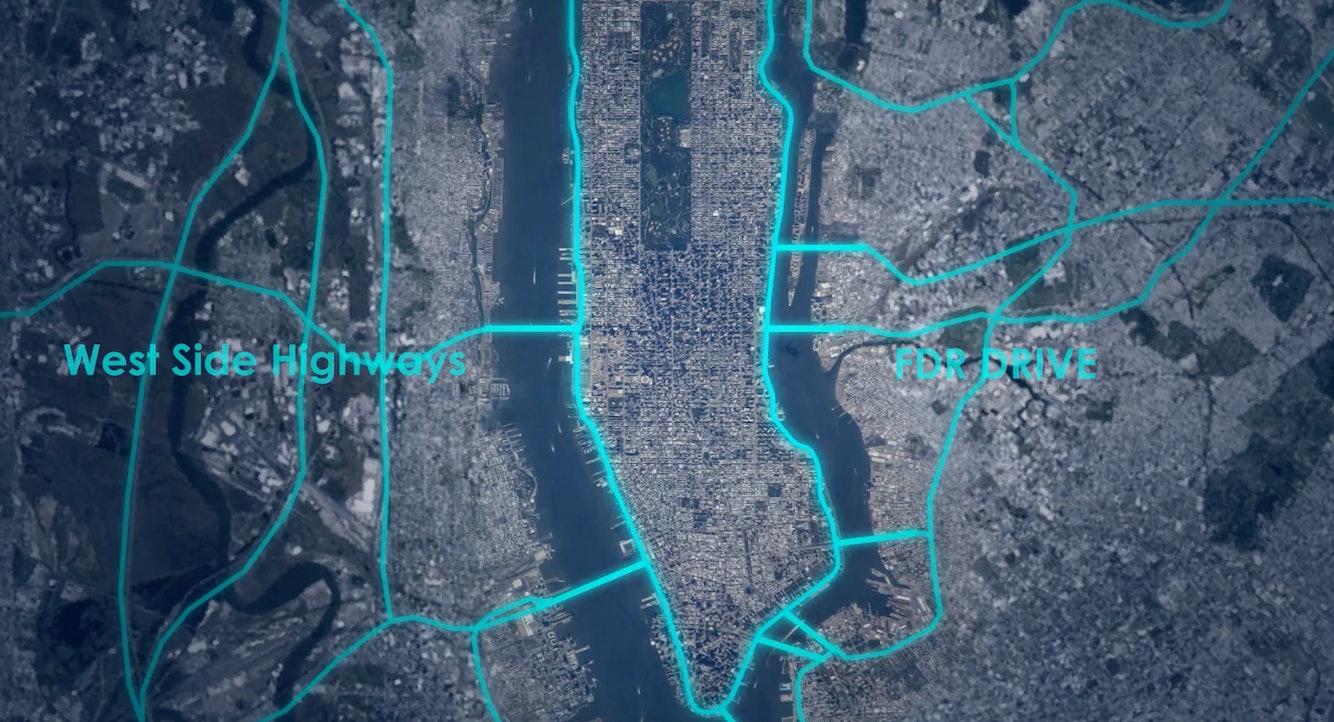 Manhattan West Side Highway FDR highway street roads Loop NYC Edg architecture plan