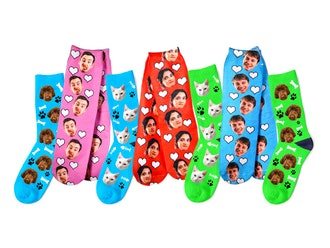 Personalized Socks: 25% Off Just Face It Face Socks