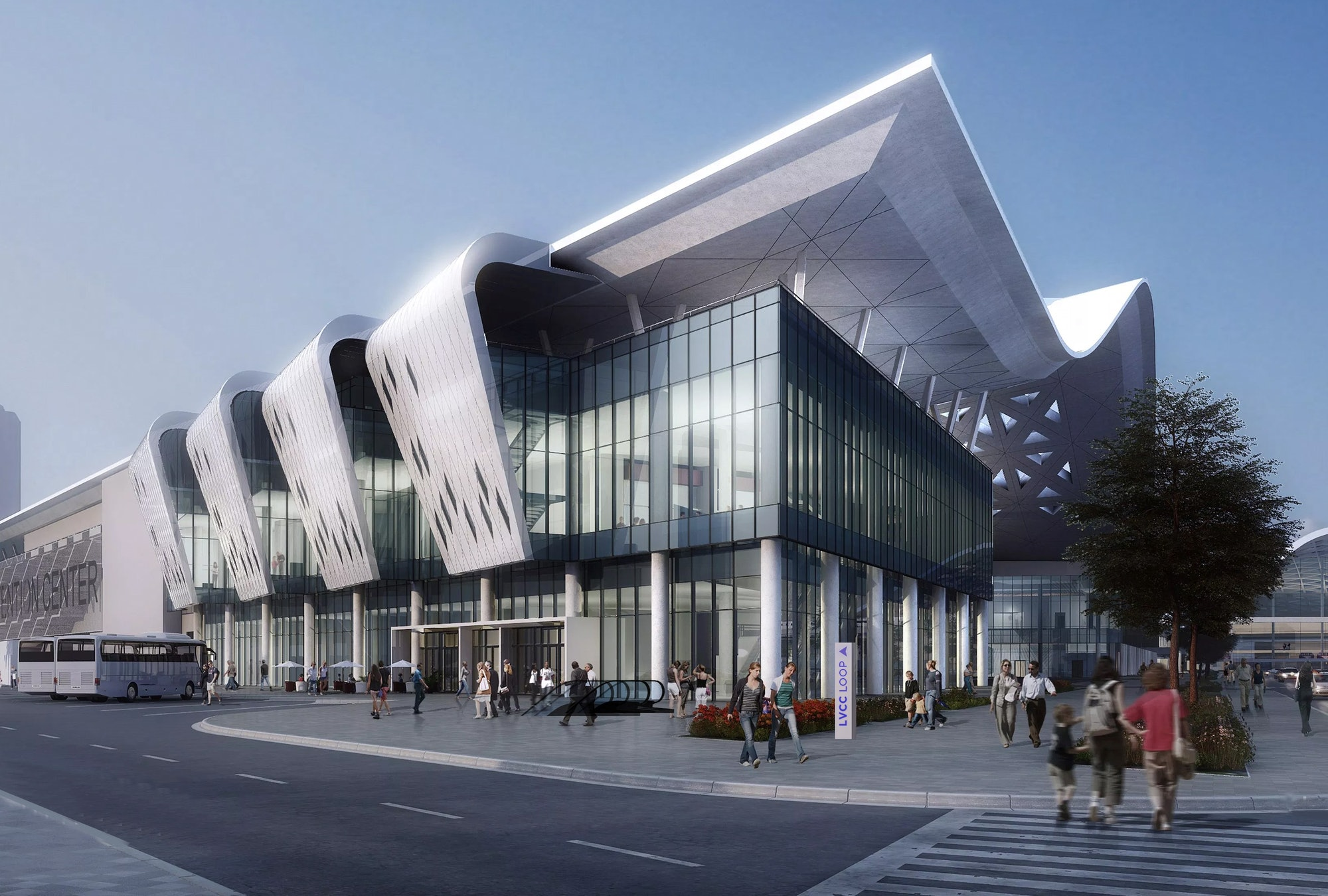 The convention center's redesign.