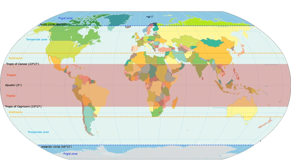 Geographical zones