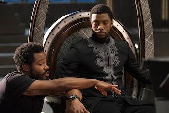 'Black Panther' director Ryan Coogler with star Chadwick Boseman.