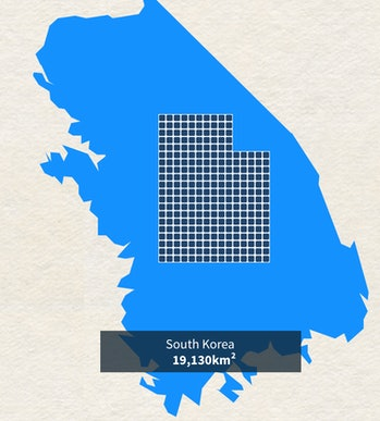 South Korea powered entirely by solar.