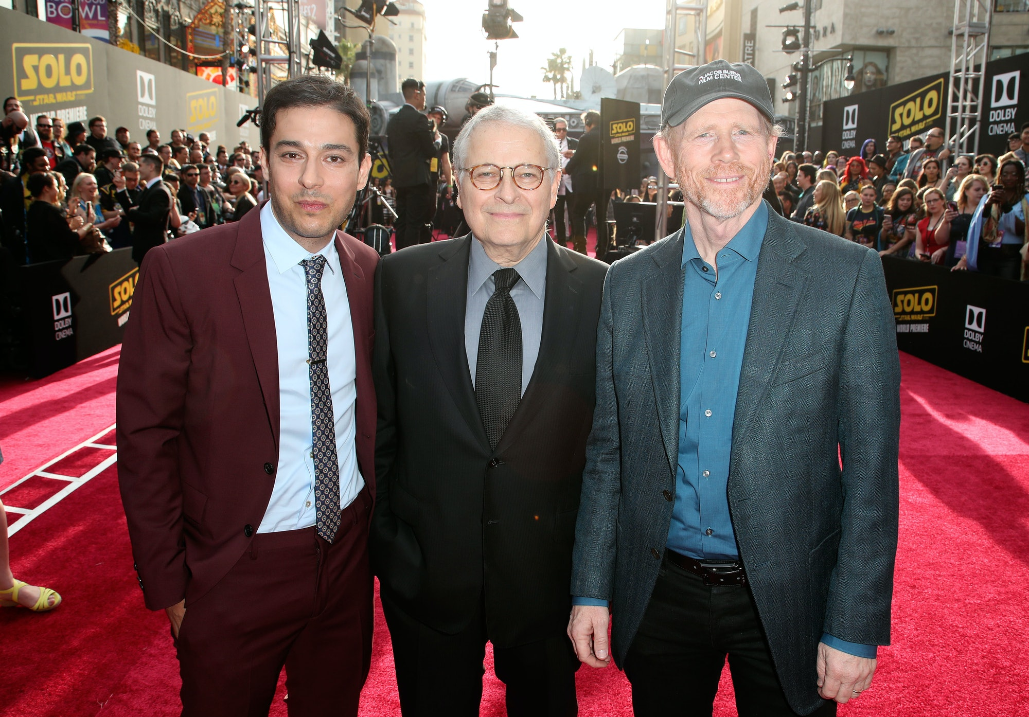 Left to right: Jonathan Kasdan, Lawrence Kasdan and Ron Howard