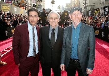 Left to right: Jonathan Kasdan, Lawrence Kasdan and Ron Howard