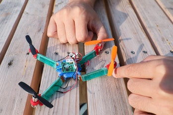 Drone Quadcopter Flexible Rigid New Insect Wings EPFLStefano Mintchev