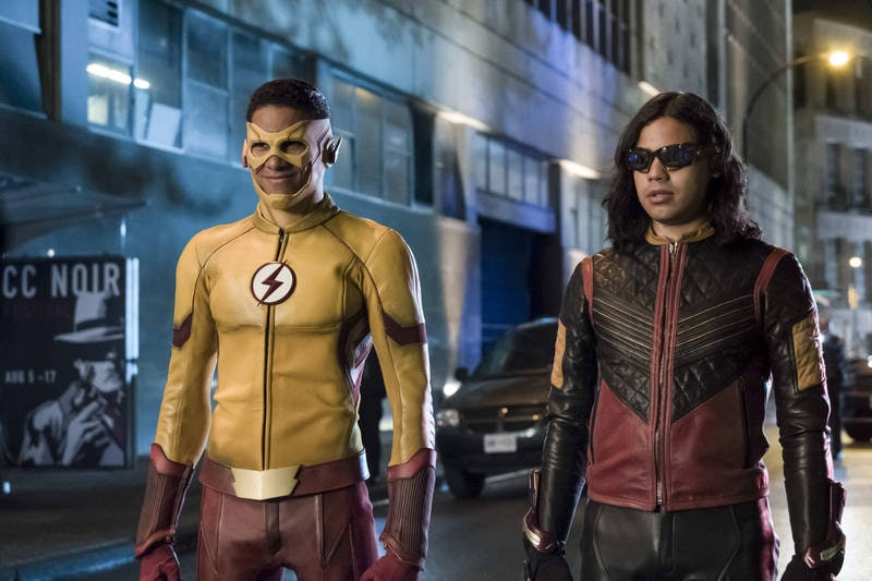 Iris might lead the team, but Wally and Cisco fight on the frontlines.