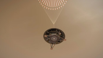 InSight deploys parachute