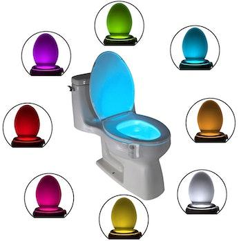 The Original Toilet Night Light Tech Gadget. Fun Bathroom Motion Sensor LED Lighting. Weird Novelty ...
