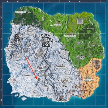 Fortnite Week 9 Snowfall Map
