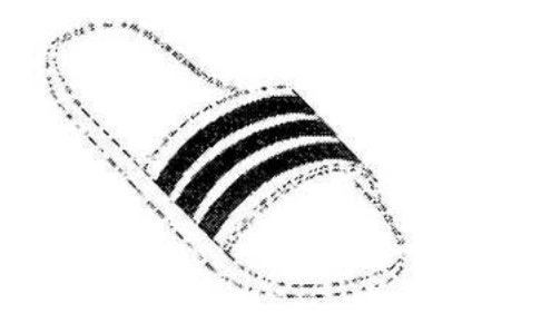 """An illustration of the athleisure staple, the Adidas slip-on """"adi-slide"""" sandal, was included in the court filing by Adidas against Tesla."""