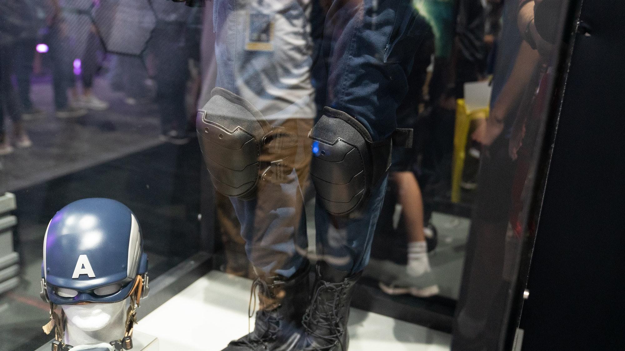 Captain America's knees in 'Marvel's Avengers'